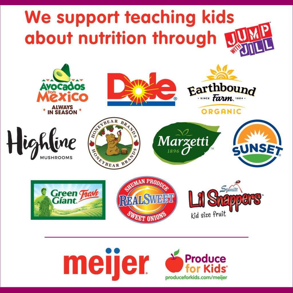 Produce for Kids teamed up wtih Jump with Jill again for awesome recipes and deals at Meijer! via @DashofEvans