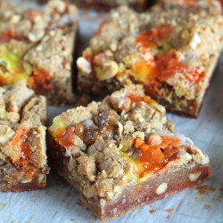 Nutty Caramel Blondies with Candy Corn