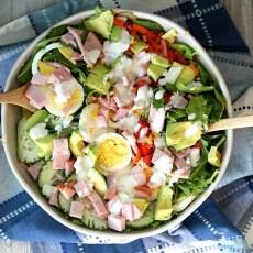 Easy Chopped Ham Chef Salad