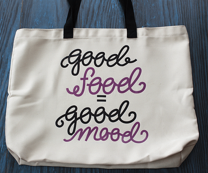 This is an easy Cricut Infusible Ink project: a tote bag! Great for a gift or your favorite new shopping bag! via @DashOfEvans