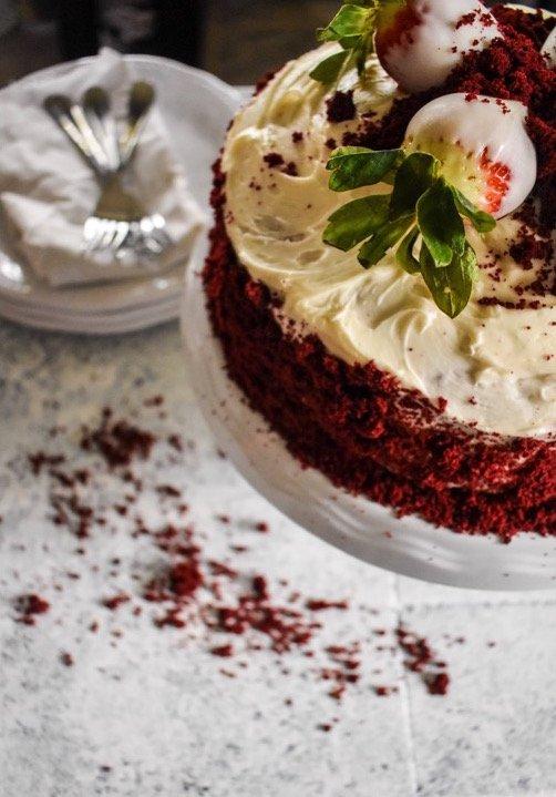 The Ultimate Red Velvet Cake | Dash of Jazz