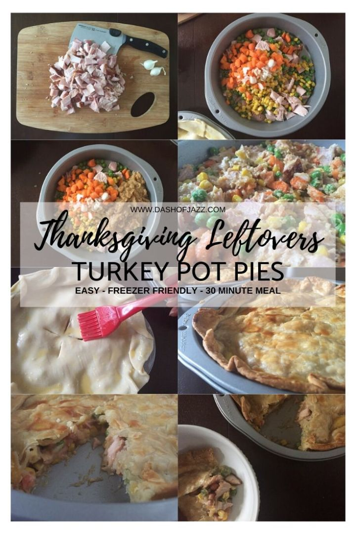 how to make thanksgiving leftovers turkey pot pies