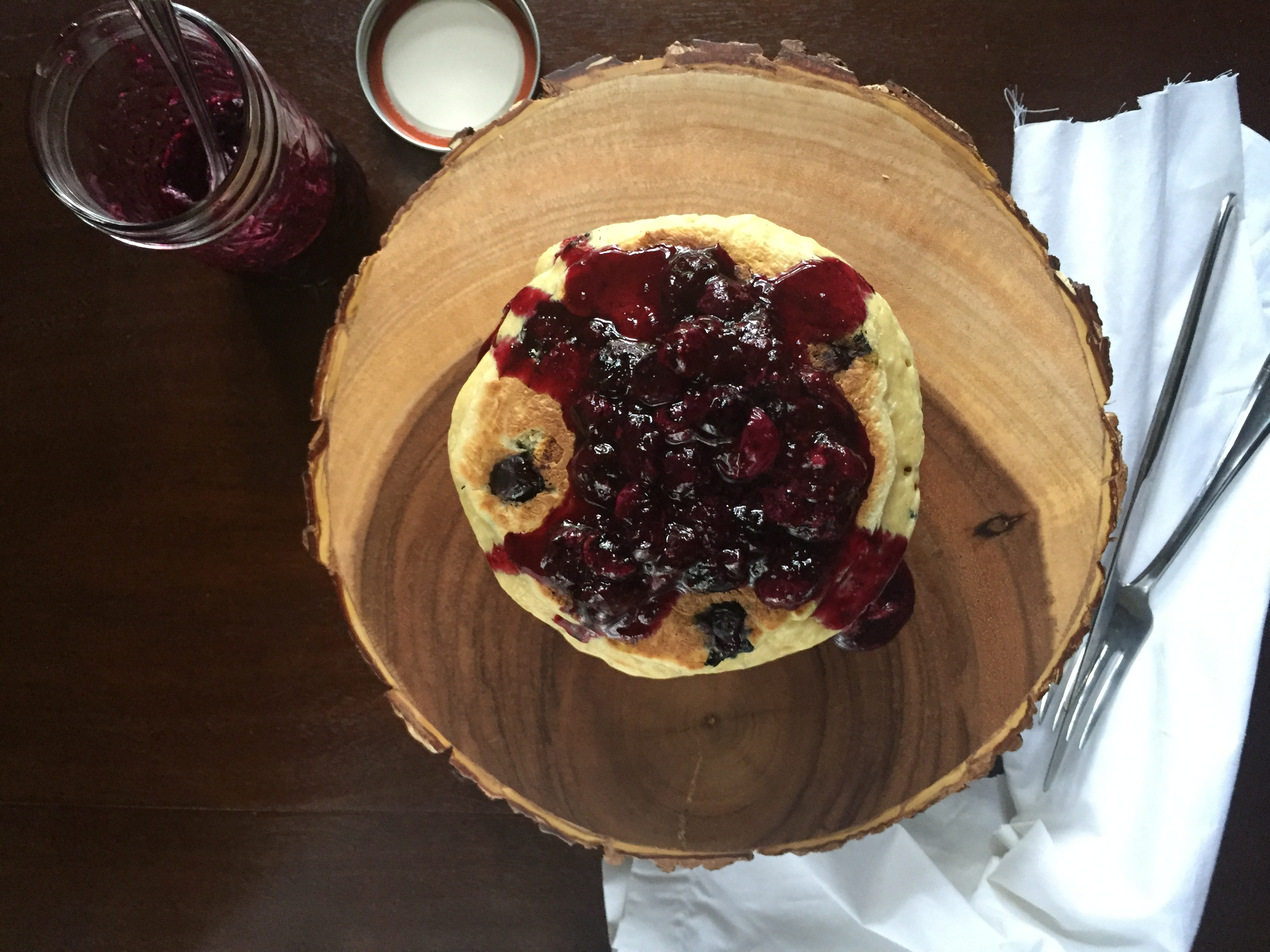 Best Ever Blueberry Pancakes with Compote | dashofjazz.com