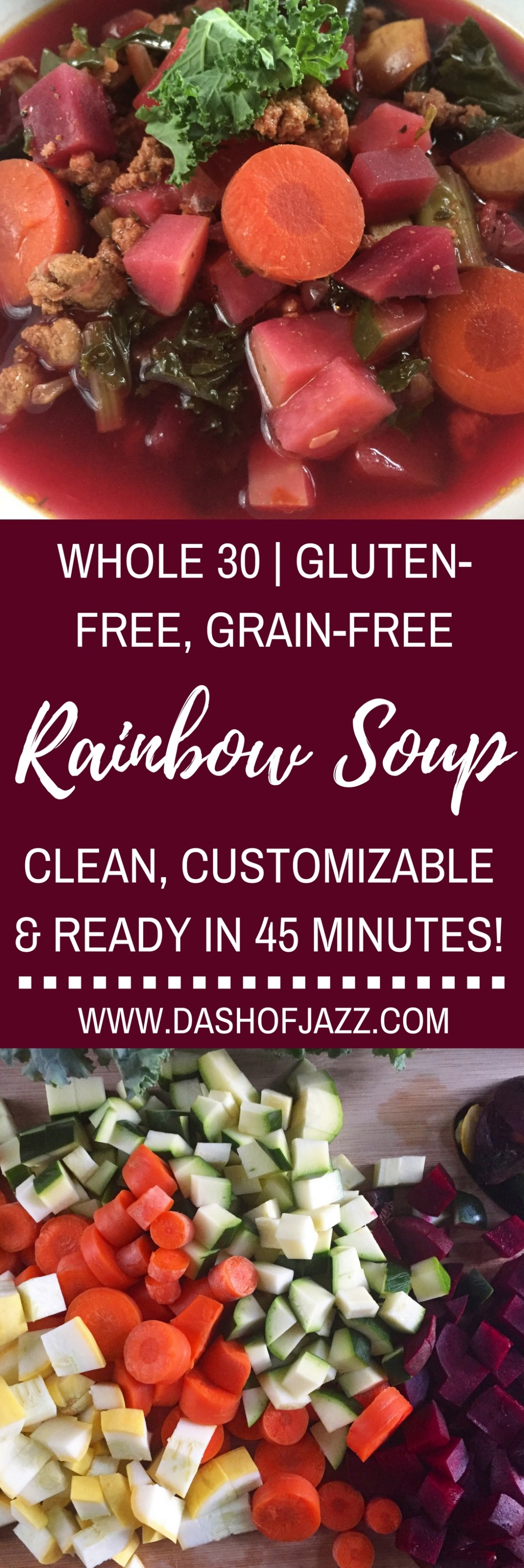 Easy Rainbow Detox Soup + Gratefulness