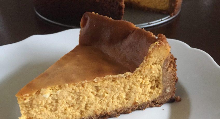 Perfect pumpkin cheesecake is a great dessert for Thanksgiving or any time during the fall pumpkin season. Recipe by Dash of Jazz
