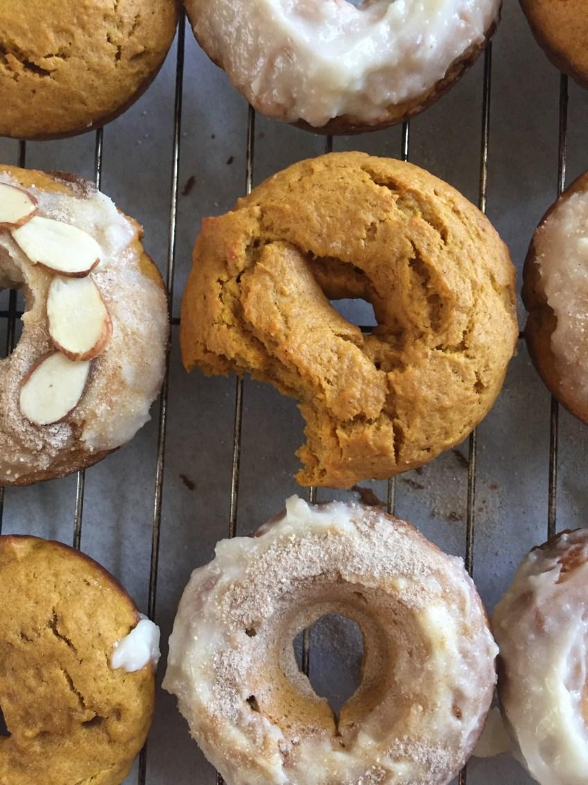 bitten pumpkin donut