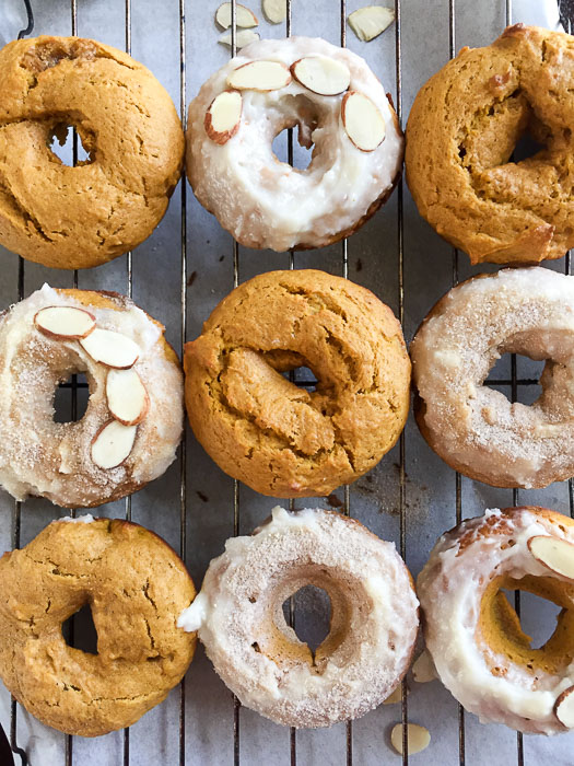 Five favorite things about Fall, including an easy and delicious recipe for pumpkin donuts with cream cheese frosting and other topping suggestions by Dash of Jazz