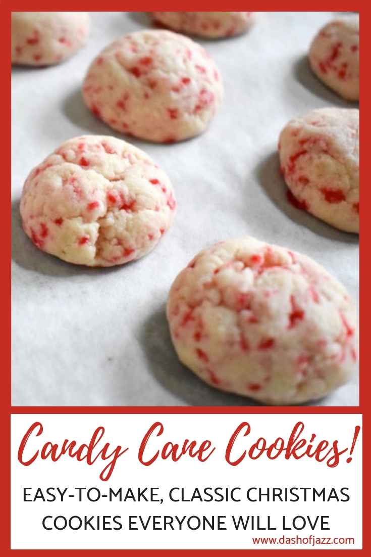 My candy cane cookies are a Christmas family favorite, cute as a button and deliciously addictive. Try this easy recipe from Dash of Jazz for the holidays. #dashofjazzblog #Christmascookierecipes #BettyCrockerrecipes #BettyCrockercandycanecookies #peppermintcookieseasy