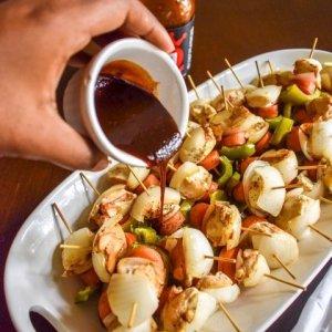 BBQ Chicken & Veggie Bites