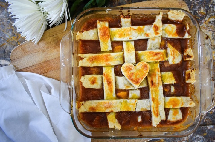 Aunt Georgia's Peach Cobbler is an ooey-gooey Southern classic dessert passed down through four generations of black girl magic!