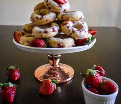 Strawberry Cake Donuts