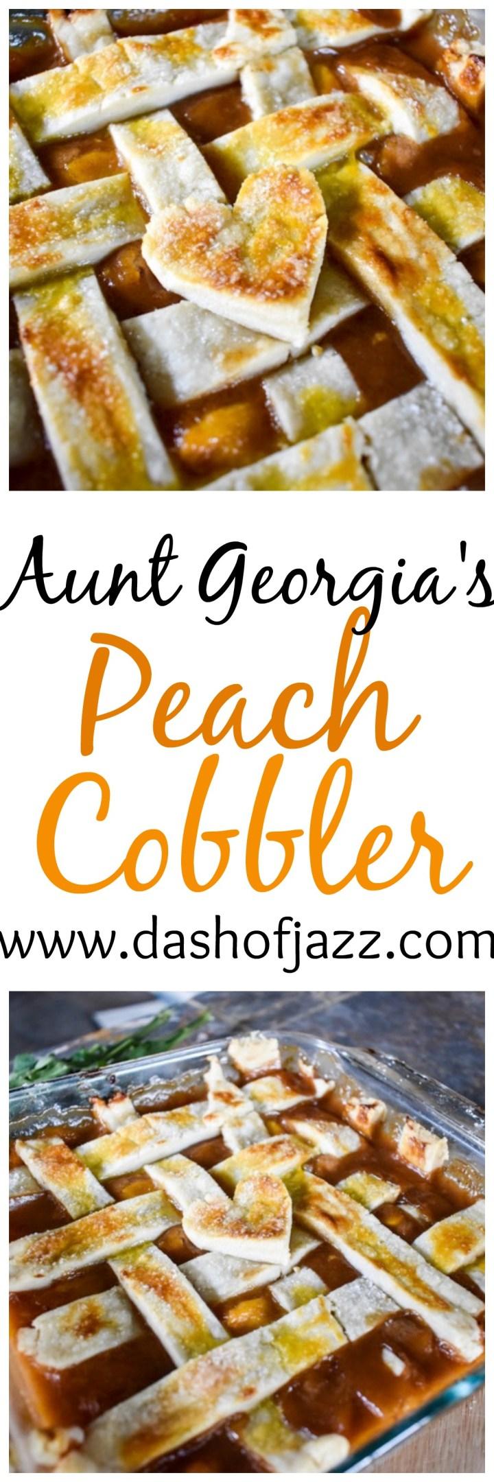 Aunt Georgia\'s Peach Cobbler + Black History Month Virtual Potluck