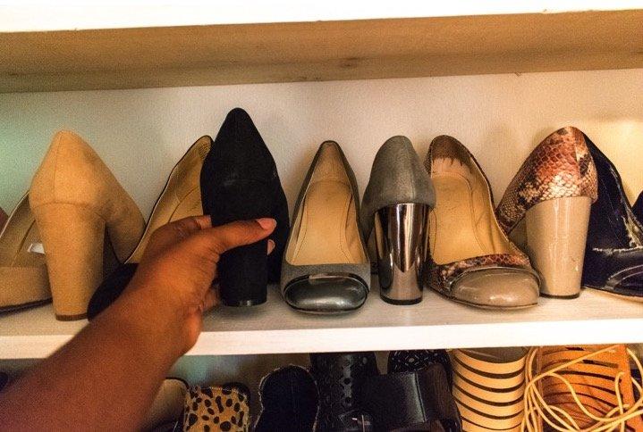 Weekend Project - DIY Shoe Closet | Dash of Jazz