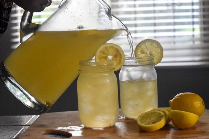All-natural, 4-ingredient fizzy honey ginger lemonade made with Barritt's ginger beer. Add a splash of your favorite spirit to turn this into a cocktail! by Dash of Jazz