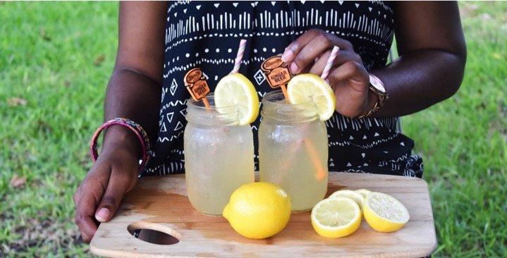 Fizzy Honey Ginger Lemonade