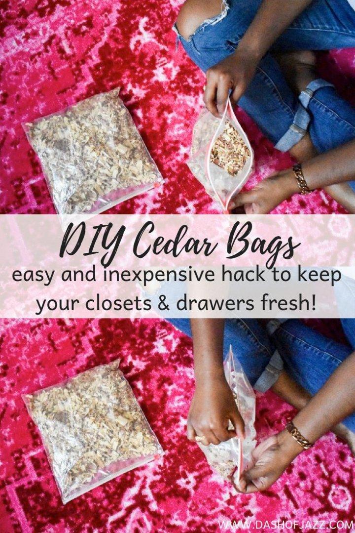 6 Easy Closet Organization Hacks + DIY Cedar Bags