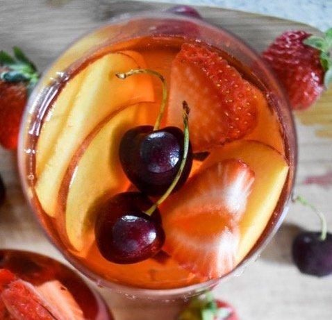 Summer Fruit Rosé Sangria | Dash of Jazz