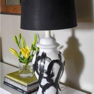 Easy DIY Brushstroke Lamp Tutorial