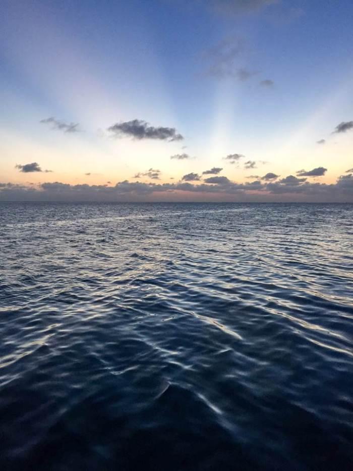 ocean sunset in Belize