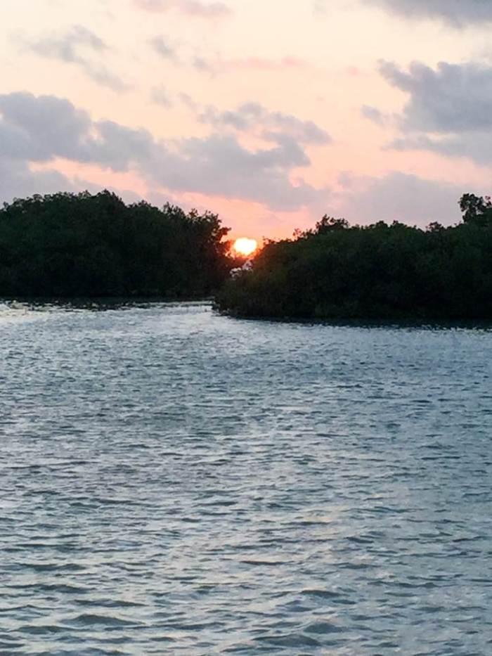 beach sunrise in Belize