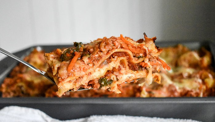 Mommy's Lightened-Up Lasagna