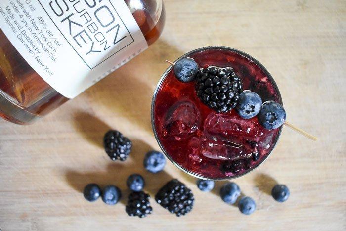 Bubbly Bourbon & Berries Cocktail