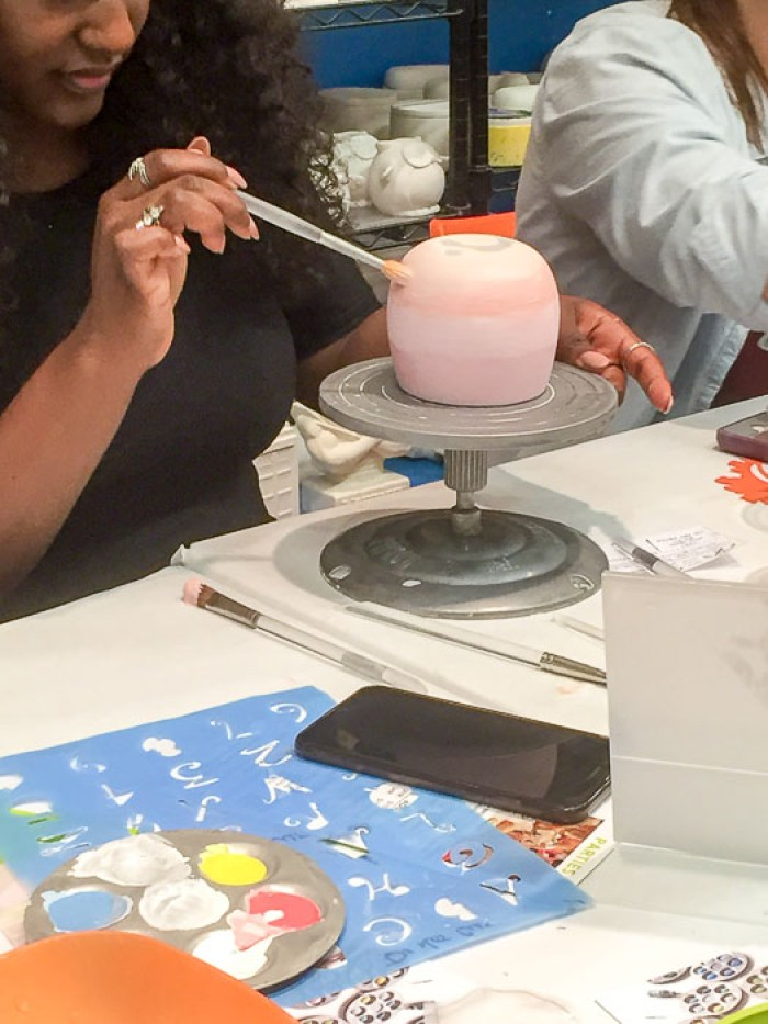 Girls Night out at The Mad Potter in Houston, Texas with pottery, painting, and wine! by Dash of Jazz