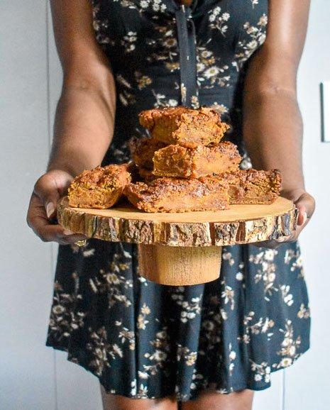 Fall Home Finds + Salted Caramel Sweet Potato Blondies Recipe