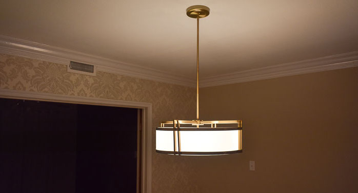 How I Saved $400 on a Statement Light Fixture (One Room Challenge Week 5)