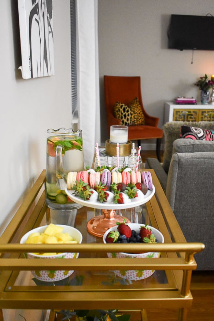 dessert cart in living room
