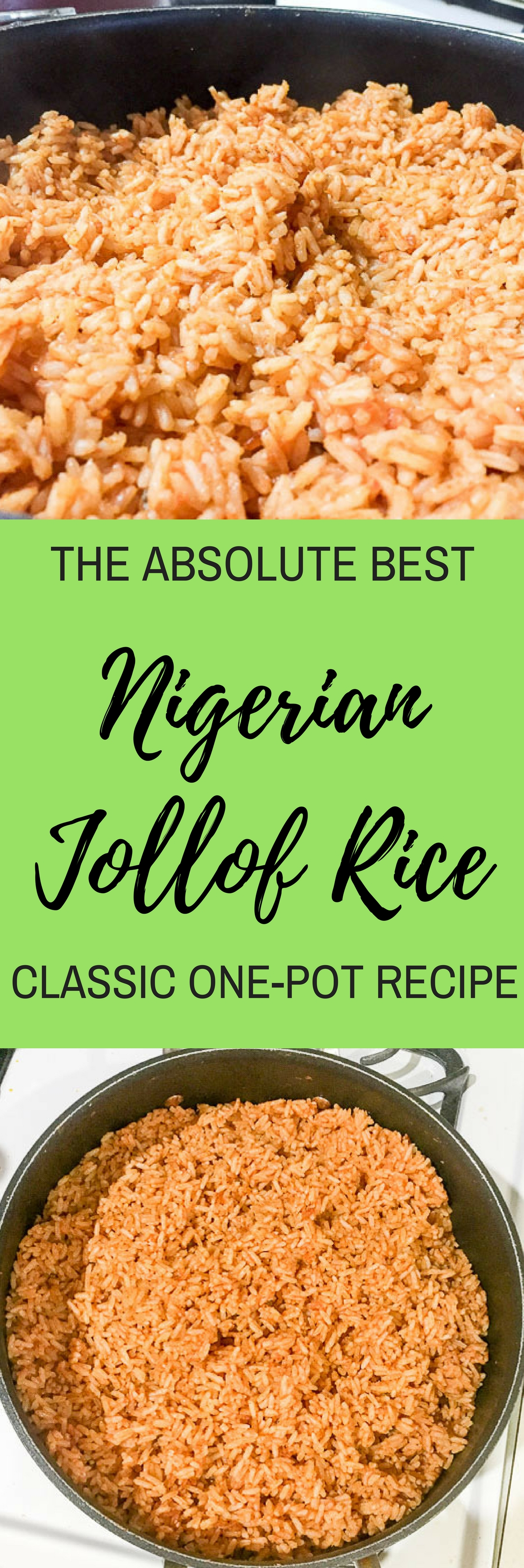 Jollof rice is an extremely popular and flavorful one-pot West African dish with a bit of controversy surrounding which country creates the best version. Our family's Nigerian jollof rice recipe will put all disputes to rest! Recipe by Dash of Jazz