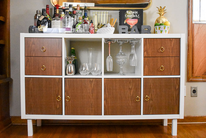 ikea kallax home bar hacks dash of jazz. Black Bedroom Furniture Sets. Home Design Ideas