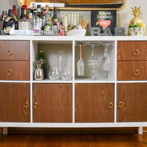 IKEA Kallax Home Bar Hacks