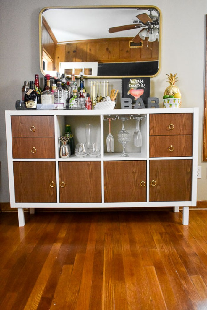 Ikea Kallax Home Bar Hacks Dash Of Jazz