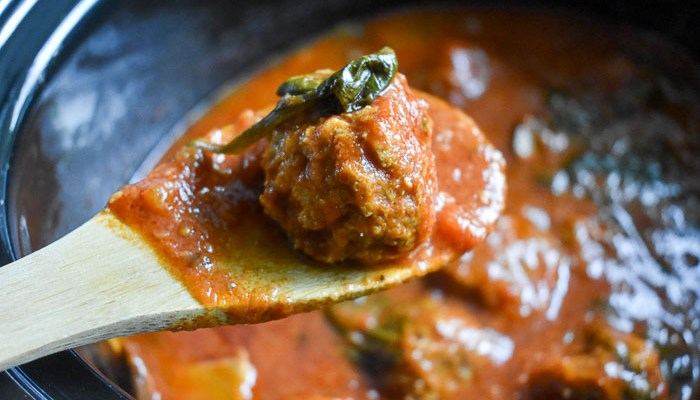 Slow Cooker Turkey Meatballs in Marinara Sauce
