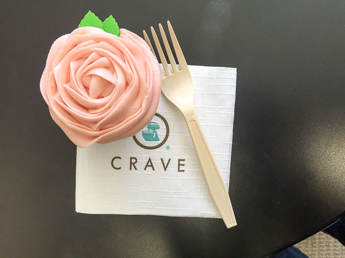 Strawberry Flower Frosted Cupcake from Crave Cupcake in Houston, TX