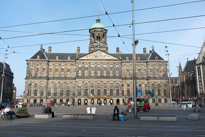 Royal Palace in Dam Square, Amsterdam, The Netherlands