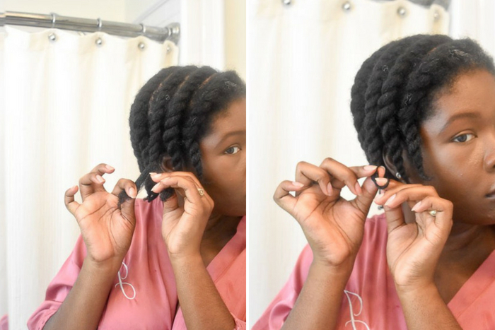 Dash of Jazz finishing flat twists in natural hair