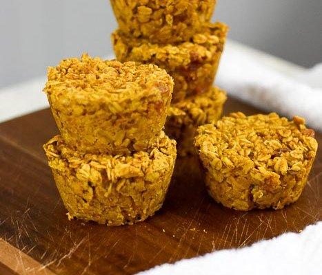 Pumpkin Walnut Baked Oatmeal Muffins