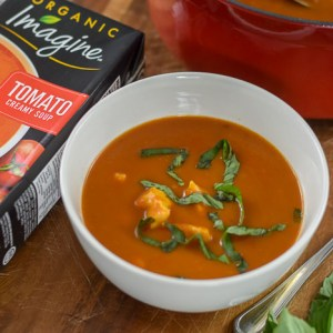 20-Minute Tomato Basil Chicken Soup (Dairy-Free)