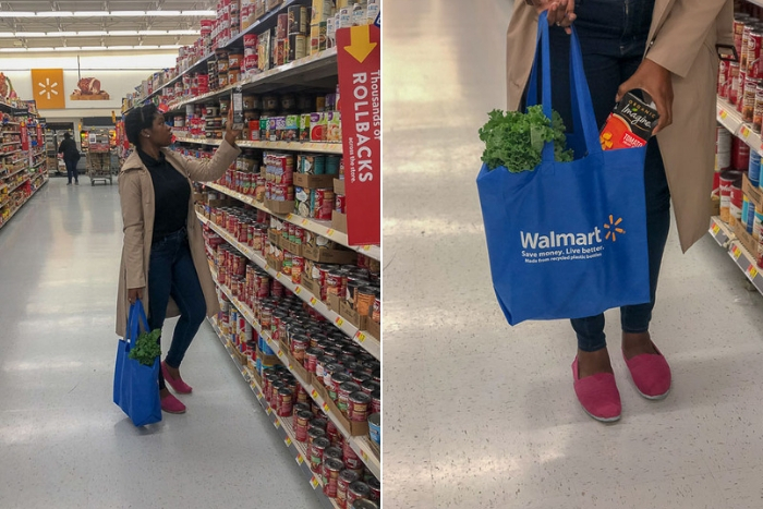 Walmart shopping for tomato basil chicken soup ingredients