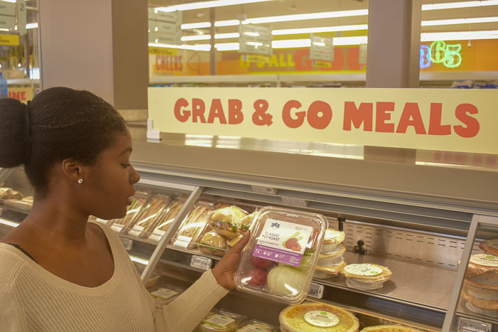 Dash of Jazz shopping Whole Foods Market 365 grab & go meals