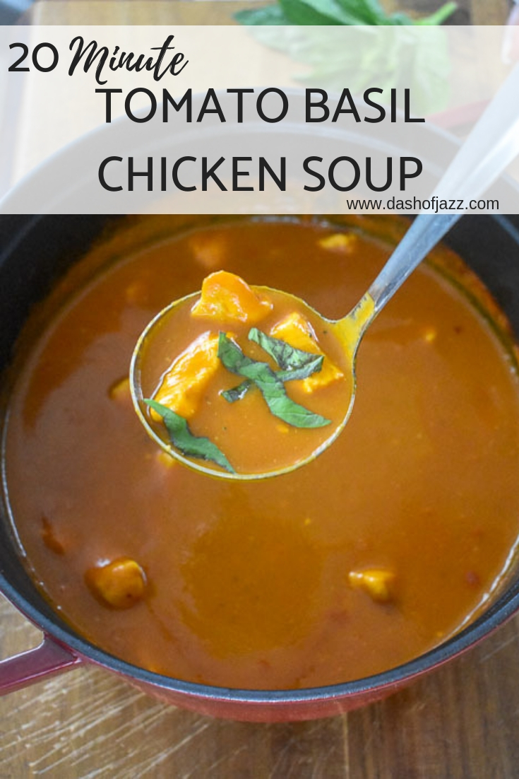 tomato basil chicken soup pinterest pin