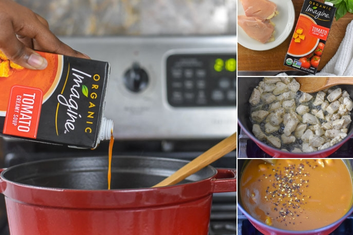 tomato basil chicken soup step by step