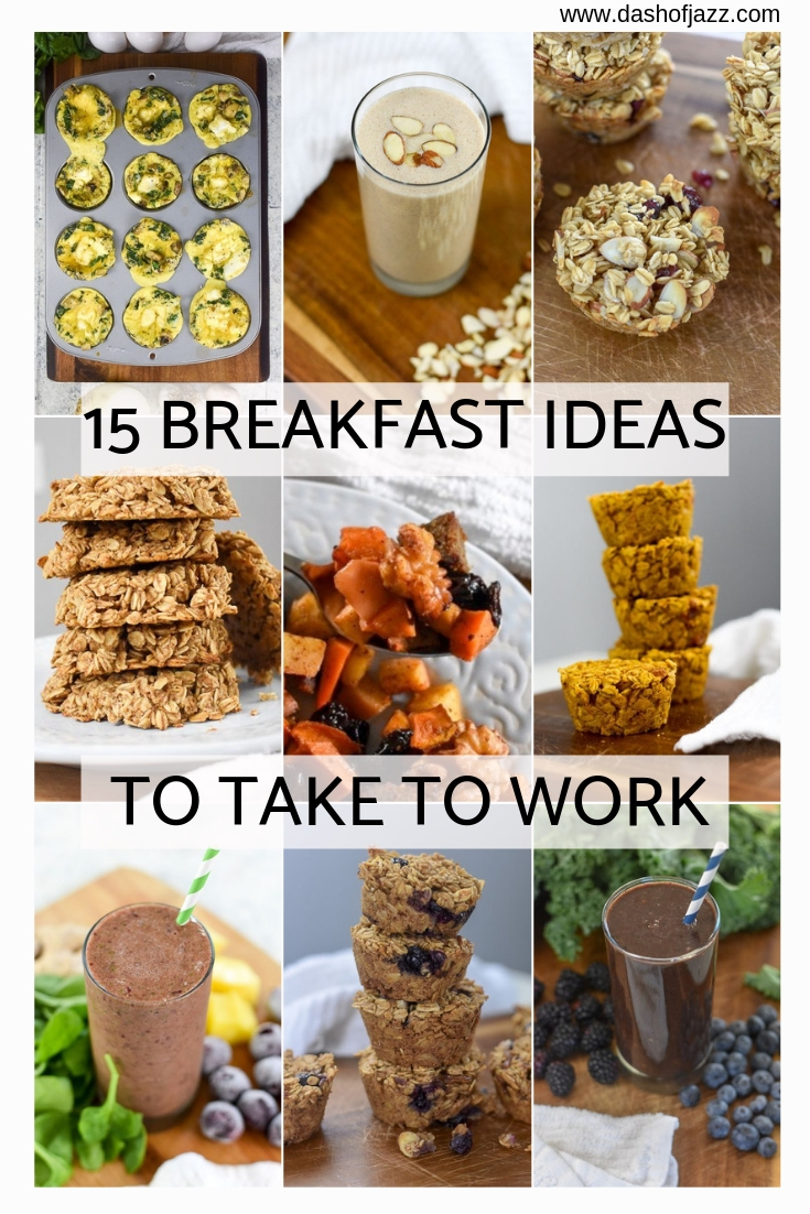 Healthy, portable breakfast options perfect for busy school or work mornings including keto, paleo, gluten-free, vegan, and traditional options by Dash of Jazz! #dashofjazzblog #ketobreakfastonthego #paleobreakfasteasy #healthybreakfastonthego