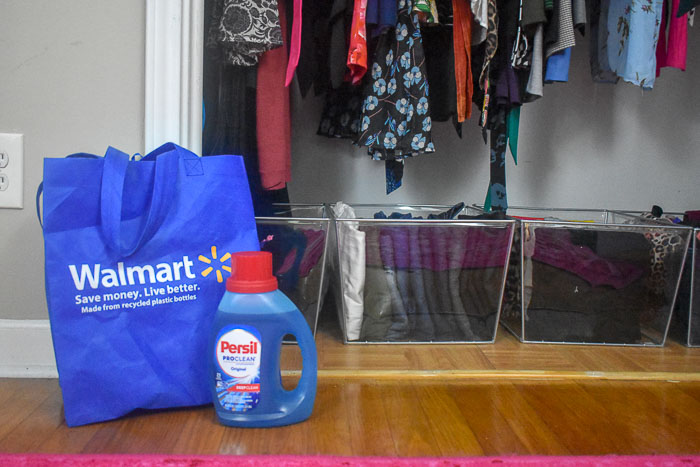Persil laundry detergent and reusable walmart bag