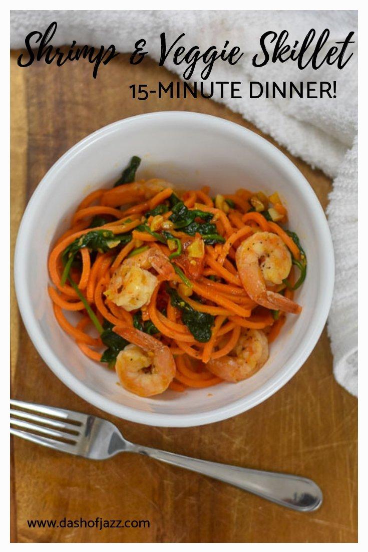 15-Minute shrimp & veggie skillet dinner