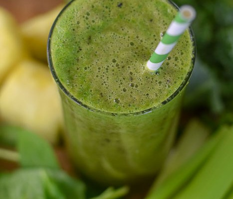 Sweet Green Smoothie for Glowing Skin (Vegan)