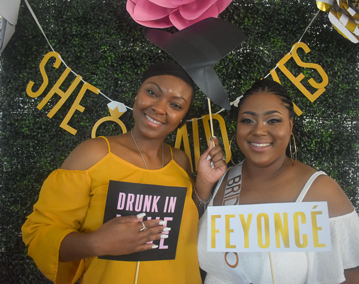 Beyonce bridal shower photo booth