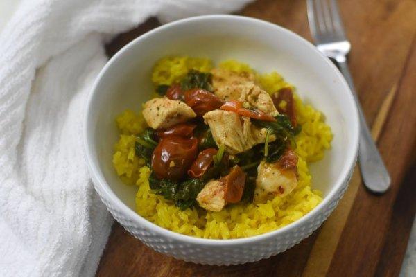 Lemon Garlic Chicken & Veggie Bowls